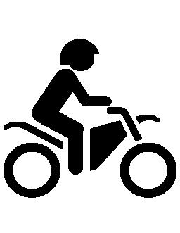 モーターサイク リスト側表示無料アイコン