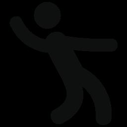 男性ダンス シルエット無料アイコン