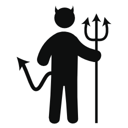 立っている悪魔図形無料アイコン