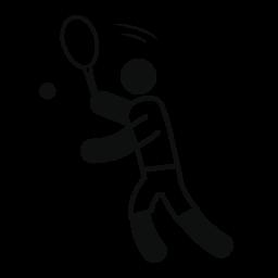陽気な男性のテニス無料アイコンを再生