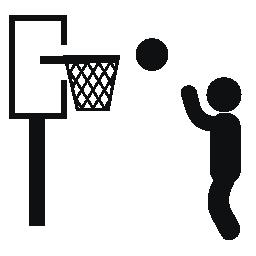男性再生バスケット ボール無料アイコン