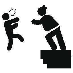 女性建設国境無料アイコンから男を投げる