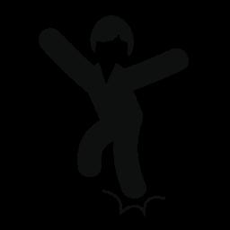 ジャンプや無料のアイコンをダンスを男します。