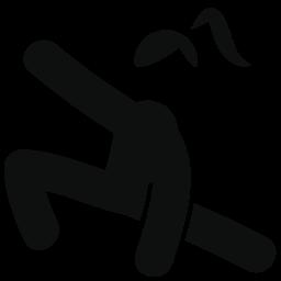 人の女の子の体操選手無料アイコン