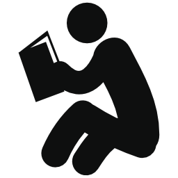本の無料アイコンを読んでいる人