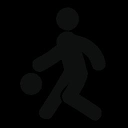 男性のシルエット ボール無料アイコンで遊んで