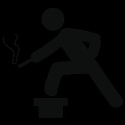 人の煙と考えて無料アイコン