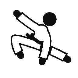人練習柔道無料アイコン