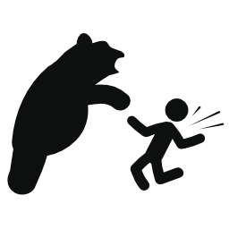 攻撃クマ無料アイコン
