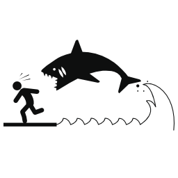 攻撃サメ無料アイコン