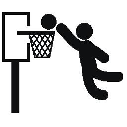 個々 のバスケットの無料アイコンを得点