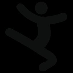 ダンサーのシルエットの無料アイコンをジャンプ