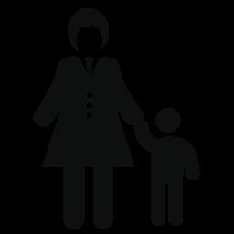 彼女の息子の無料のアイコンを持つ母