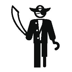 人の海賊の変装無料アイコン
