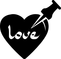 ピンの無料アイコンと愛の心