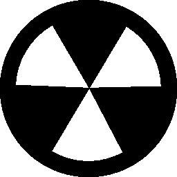 放射性および危険のシンボル無料アイコン