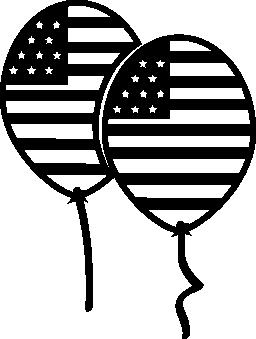 7 月 4 日のカップル風船無料アイコン