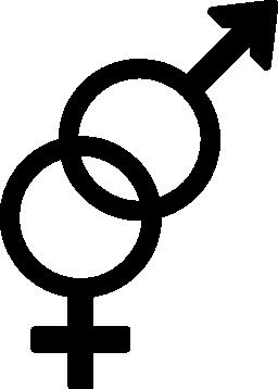 男性と女性のシンボル無料アイコン