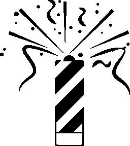 お祝いの人工火災の無料のアイコン