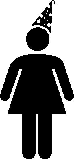 女性の誕生日無料アイコン