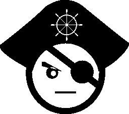 海賊頭無料アイコン