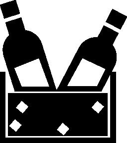 ボックスの無料のアイコンでワイン ・ ボトルのカップル