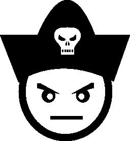 悪い海賊顔無料アイコン