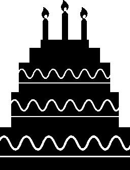 キャンドルで誕生日ケーキの層を 5 無料のアイコン