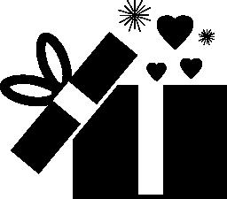 オープニング プレゼント ボックス無料アイコン