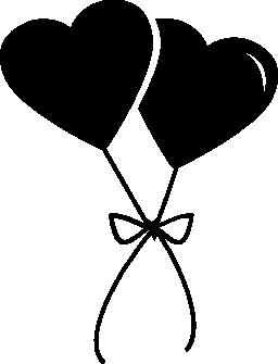心の無料アイコンの風船のペア