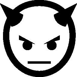 悪魔頭角無料アイコン