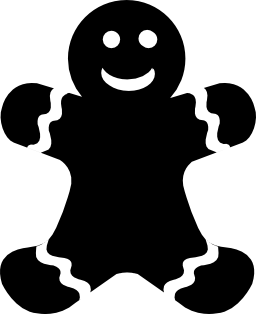 人間形ビスケット無料アイコン