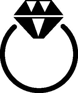 リング ダイヤモンド宝石無料アイコン