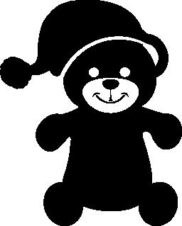 スリープ帽子無料アイコンとクマのおもちゃ
