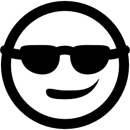 サングラスの無料アイコンをクールな笑顔