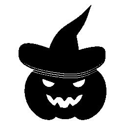 帽子とカボチャ魔女無料アイコン