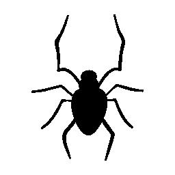ハロウィーン クモ無料アイコン