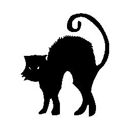 黒い猫のハロウィーン無料アイコン