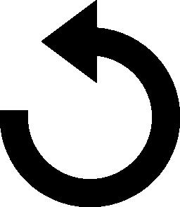 円形インターフェイス矢印無料アイコンをリロードします。