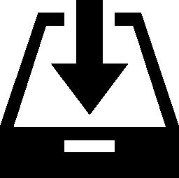[受信トレイ] インタ フェース シンボル無料アイコン