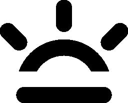 日当たりの良い天気シンボル無料アイコン