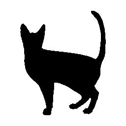 ハロウィン黒猫無料アイコン