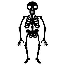 ハロウィーンのスケルトン無料アイコン