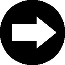 右矢印円無料アイコン