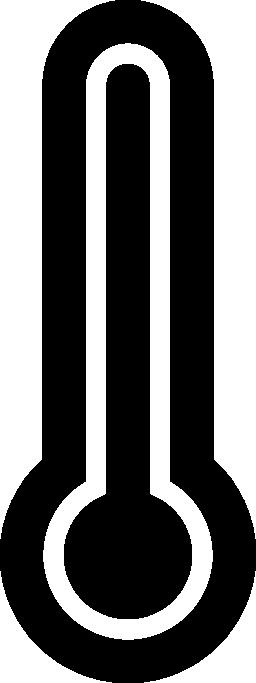 無料のホット温度計のアイコン