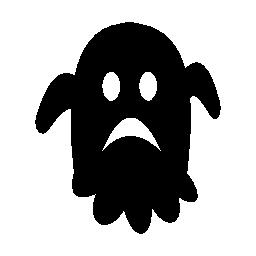 ハロウィーンの悲しい幽霊無料アイコン その他 無料アイコンを集めたアイコン専門のフリーアイコンボックス