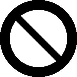 サークル禁止トラフィック無料アイコン