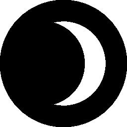 三日月形の eclipse の夜無料アイコン
