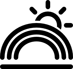 虹太陽無料アイコン