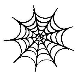 ハロウィーン クモの web 無料アイコン